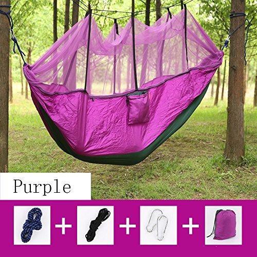 Preisvergleich Produktbild Anti Mücken doppelt Nisi Spinn mit Moskito Hängematte Tropfen Innen- und Außen Camping Hängematte 265 * 140 cm ( Farbe : 2 )