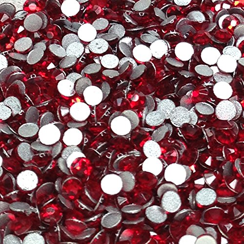 Kristall AB/Crystal Flache Glas Strass Glue Fix, Light Siam, ss30 (6mm) 288 pcs