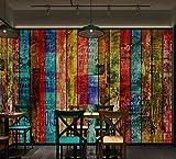 Ytdzsw Mehrfarbenholz-Gekritzel-Buchstaben-Planken-Wandbild-Tapete Für Wand-Wandgemälde Der Bar-Hip-Hop 3D Große Kundenspezifische-250X175Cm