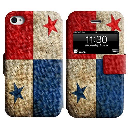 Graphic4You Vintage Uralt Flagge Von Mexiko Mexikanisch Design Leder Schützende Display-Klappe Brieftasche Hülle Case Tasche Schutzhülle für Apple iPhone 4 und 4S Panama Panamaisch