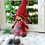 Ludmilla Winterwichtel 48cm sitzend Kantenhocker Deko Figur Stoff Weihnachtsdeko