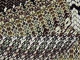 Schlangenleder Print yoryu Crinkle Chiffon Kleid Stoff