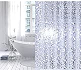 #5: CASA Furnishing PVC Waterproof 3D Shower Curtain with 8 Hooks (54 X 84 in) 7 Feet