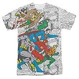 Comics Justice League Gesicht Comic-Panels Erwachsenen Front Print T-Shirt T-Shirt--0,88 ct tw G SI Zwei-Stein Ring Akzent Diamant Engagement Einstellung 14 Karat Wei?gold