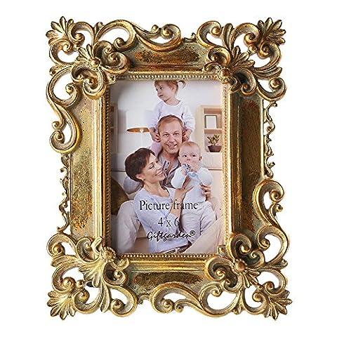 Giftgarden 10x15 cm Cadre pour Photo à Poser Cadre Baroque
