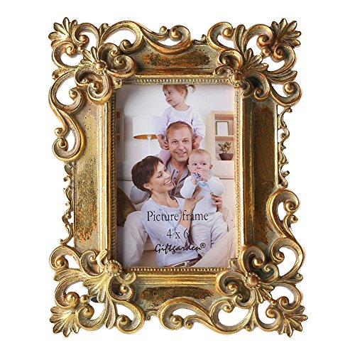 Giftgarden Marco de Fotos 10x15cm de Estilo Vintage Creativo Barroco Rectángulo