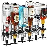 Drinkstuff Lot De 6 Distributeurs De Bouteilles D'Alcool Avec Doseur 25Ml À Accrocher Au Mur