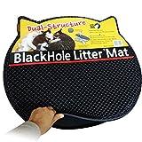 Schwarzes Loch Katzentoilette-Vorleger Doppelstruktur Vorlegematte für Katzentoiletten 57cm x 52cm Cat Litter Mat