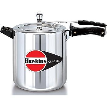 Hawkins Classic Aluminum Pressure Cooker, 8 Litres