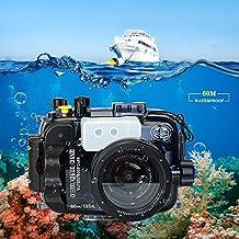 Per Sony A6500 A6300 A6000 custodia subacquea impermeabile fino a 195 piedi/60m, può essere usata con lenti da 16-50mm