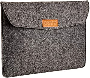 AmazonBasics 13-inch Felt Laptop Sleeve (Charcoal)