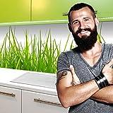 StickerProfis Küchenrückwand Selbstklebend Pro Wiesen Gras 60 x 220cm DIY - Do It Yourself PVC Spritzschutz