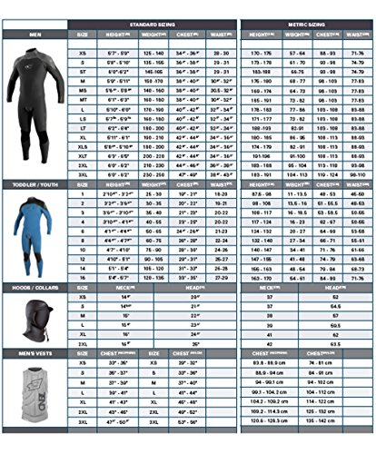 O'Neill Wetsuits Jungen Neoprenanzug youth reactor 3/2 full, Graphite/Tahiti/Black, 12, 3802-BB3 - 3