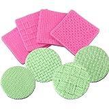 Voarge - 4 tappetini in silicone per torte, per lavori a maglia, maglioni e crochet, per torte, per la decorazione di…