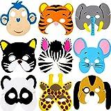 German Trendseller 8 x Tiermasken ┃ Dschungeltiere ┃ Schaumstoff Masken┃ für Kinder ┃ Ideal zum Kindergeburtstag und Karneval