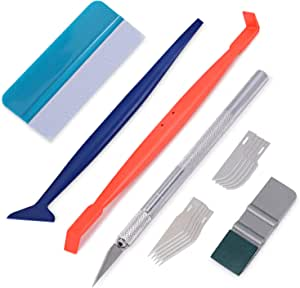 Winjun Auto Vinyl Wrap Set Mit Filzrakel Micro Magnet Rakel Folienschneider Mit Ersatzklingen Für Car Wrapping Folierungs Werkzeug Auto