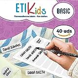 ETIKids 40 Étiquettes de vêtements personnalisables pour la garderie et l'école. (basic)...