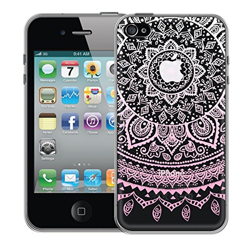 iPhone 4, 4S Hülle, Conie Silikonhülle [Mandala Series], Ultradünn hüllen Cover Schutz Tasche Premium HD Druck, Case, iPhone 4, 4S (3,5 Zoll (8,9 cm)