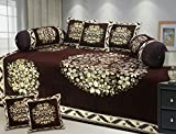 """Fresh From Loom Premium Quality 500 TC 100 % Chenille Velvet Diwan Set- 8pc set in Coffee Color, Multi-Color Covers, Premium quality and luxury look New Desgin, Diwan Cover with Attractive Colour and Floral Design along with Pillow Covers, Exclusive Design, Easy to clean, Attractive Prints, Extraordinary Velvet Diwan Cover, Thick Anti Wrinkle Material, Heavy fabric wont Fly or fall under the Fan, Latest Floral Design Cotton, Perfect Deal cotton Diwan set"""