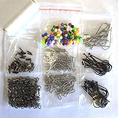Generic make 50 Rigs + Bait elastic Sea Fishing Tac fishing swivels beads hooks Sea Fishing Tackle Kit ake 50 ake 50 Rigs fis <1&985*23> from Generic