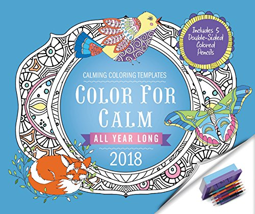 color-for-calm-all-year-long-2018-calendar-includes-colored-pencils-attached-to-base