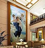Yosot 3D Raum Tapete Benutzerdefinierte Wandmalereien Non-Woven Wall Sticker Kleine Engel Schönheit Malerei Hintergrund Wand Foto Tapeten Für 3D-Wand-140Cmx100Cm