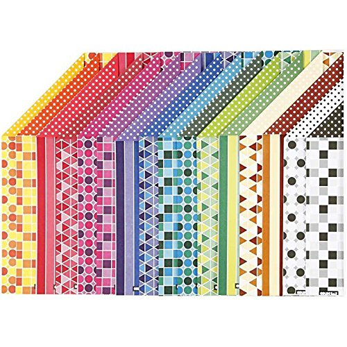Color Bar - Papiersortiment, A4 21x30 cm, Gemustert, 16 sort. Blatt