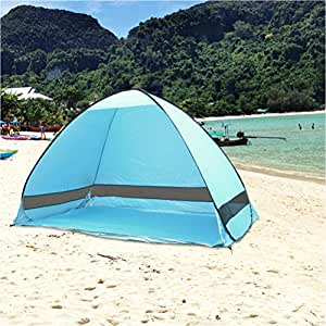 tourking outdoor automatic pop up instant portable cabana family tent shelter beach tent amazon. Black Bedroom Furniture Sets. Home Design Ideas