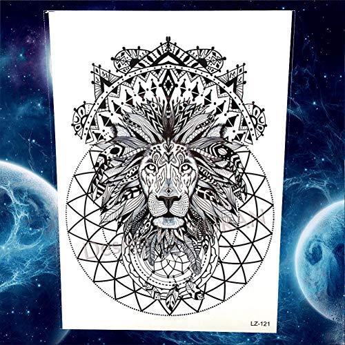 GHHCG Whale Henna Flower Floral Tattoos Aufkleber Körper Arm Brust Lion Tattoo Temporäre Frauen Männer Oceam Tatoos 3D Art, Glz121