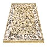 WEBTAPPETI Klassisch Teppich Orient Sarouk Teppich Glaenzend-Look RUBINE 492-ORO 160X230
