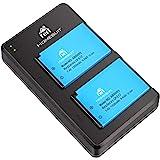 Lot de 2 Batteries LP-E17 Homesuit et Chargeur Rapide Dual Dual Micro pour Canon Rebel SL2, T6i, T6i, T7i, EOS M3, M5…