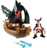 Fisher-Price - W5264 - Jake et les Pirates- Figurine - Bateau du Capitaine - Crochet