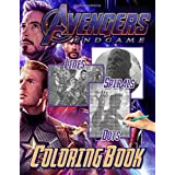 Avengers Endgame Dots Lines Spirals Coloring Book: Avengers Endgame Anxiety Activity Spirals-Dots-Diagonal Books For Kids And