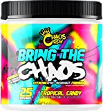 Chaos Crew Bring The Chaos Most Hardcore PreWorkout Booster Trainingsbooster Bodybuilding 300g (Tropical Candy)