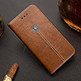 #8: CaseteK ForNokia 6.1 (2018), Leather Flip Wallet Case Stand with Card Holder, Metal Logo Pu with Magnetic Closure Cover for Nokia 6.1 (2018) - Brown