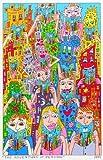James Rizzi The Adventure Of Reading 2D Poster Kunstdruck Farblitohgraphie - Kostenloser Versand