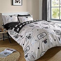 Funda de edredón con funda de almohada juego de cama diseño de CARLINO walkies- varios tamaños, King (230x220cm)