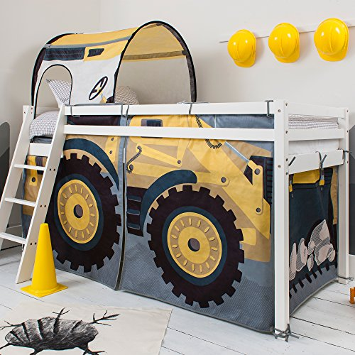 A Digger Themed Boys Bed With a Slide