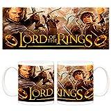 Taza El Señor de los anillos Aragorn, Frodo y Gandalf