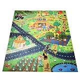 MagiDeal Enfant Bébé Tapis de Jeux Carte Circuit Trafic à Ramper Tapis d'éveil Couverture Développement Jouet - Ferme