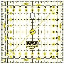 Regla para Patchwork cuadrada de 10x10 centímetros