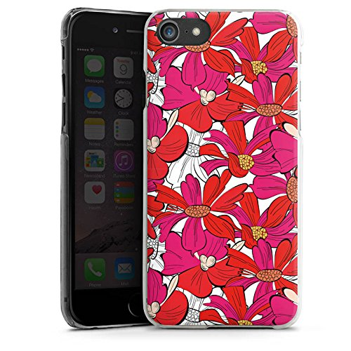 Apple iPhone X Silikon Hülle Case Schutzhülle Blumen Muster zeichnung Hard Case transparent
