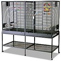 Montana Cages | Zimmervoliere, Käfig, Vogelkäfig New Madeira Double mit waagerechter Verdrahtung FRACHTFREI