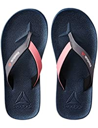 Reebok Women's Adventure Flip Black, Flat Grey and Neon Yllw Flip-Flops and House Slippers - Flip Flops - Plastic Moulded - 6 UK/India (39 EU)(8.5 US)