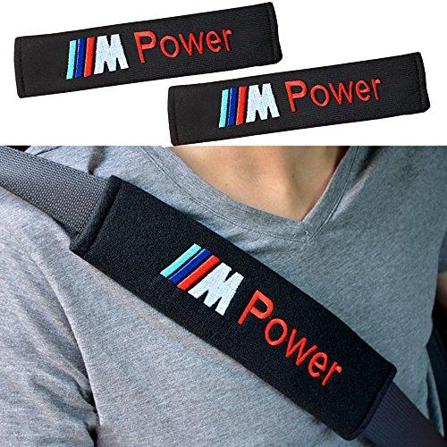 stile popolare nuova versione negozio online 2x Protezioni Comfort per Cintura di Sicurezza Auto, Viaggio Ammortizzatori  BMW (M) Logo