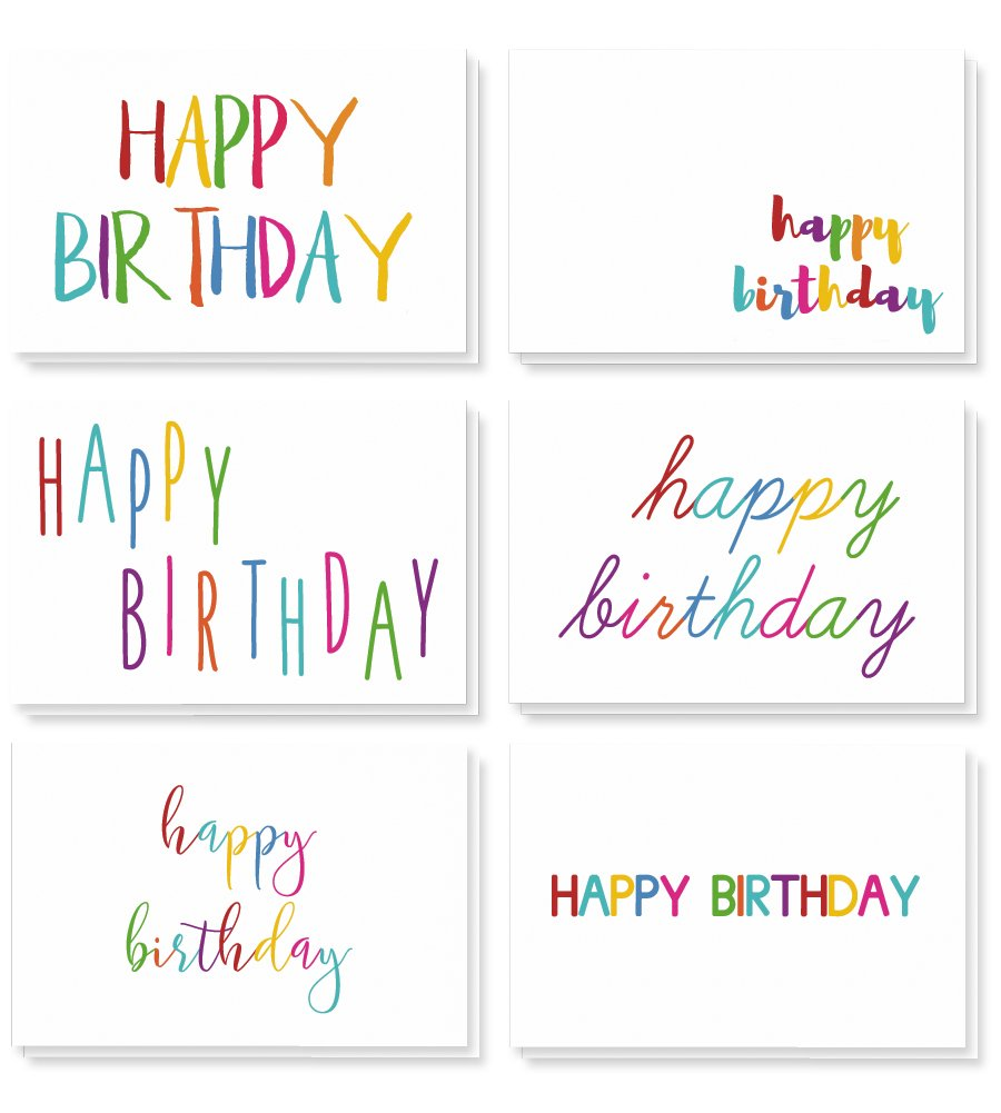 Best Paper Greetings 48 Happy Birthday Cards Bulk Assortment