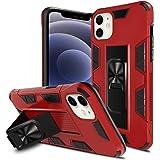 Mikikit Cover Compatibile con iPhone 6,1 Pollic (12, 12 PRO) Protettiva Cavalletto Custodia in Piedi Rigida Antiurto Staffa P