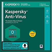 Kaspersky Anti-Virus 2020 Latest Version - 2 Users, 2 Years (Single Key) (Email Delivery in 2 Hours - No CD)
