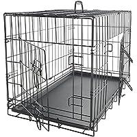OxGord Jaula plegable para perros con puertas dobles plegables 107 x 69 x 76 cm Extra Grande