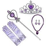 Hemuu 7 PCS Princess Dress up Set, Ragazza Principessa Cosplay Accessori Bambini Copricapo Feste Decorazione Costumi Corona S